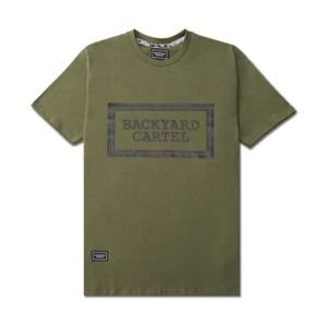 Backyard Cartel T-Shirt Label Logo khaki