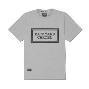 Backyard Cartel T-Shirt Label Logo light heather grey
