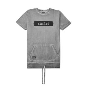 Backyard Cartel T-Shirt Palm washed grey FW2017