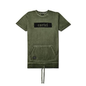 Backyard Cartel T-Shirt Palm washed khaki FW2017