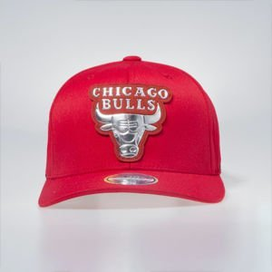 Cap Mitchell & Ness Chicago Bulls red Metallic Logo Flexfit 110 Snapback