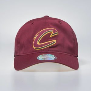 Cap Mitchell & Ness Cleveland Cavaliers burgundy Light & Dry Strapback Current