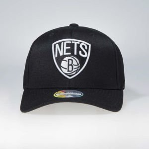 Cap Mitchell & Ness snapback Brooklyn Nets black Black & White Flexfit 110