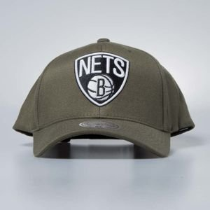 Cap Mitchell & Ness snapback Brooklyn Nets olive Flexfit 110