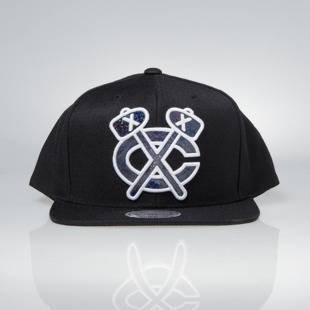 Cap Mitchell & Ness snapback Chicago Blackhawks black Dark Hologram