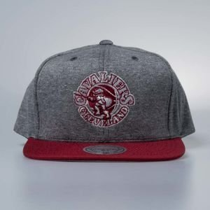 Cap Mitchell & Ness snapback Cleveland Cavaliers grey / burgundy Fleece Clear Logo
