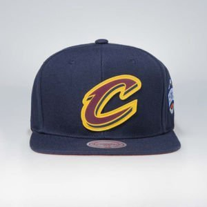 Cap Mitchell & Ness snapback Cleveland Cavaliers navy Silicon Grass