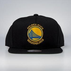 Cap Mitchell & Ness snapback Golden State Warriors black Wool Solid / Solid 2