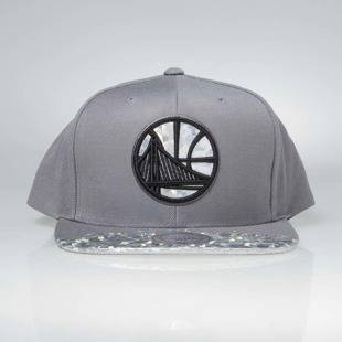 Cap Mitchell & Ness snapback Golden State Warriors grey Foil Lava