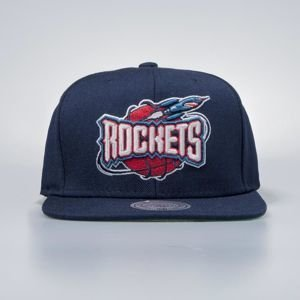 Cap Mitchell & Ness snapback Houston Rockets navy Wool Solid / Solid 2