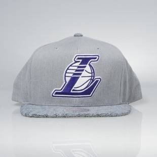 Cap Mitchell & Ness snapback Los Angeles Lakers grey Cracked