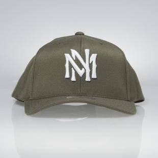 Cap Mitchell & Ness snapback M&N Logo olive Team Logo High Crown Flexfit 110
