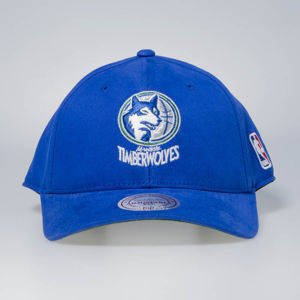 Cap Mitchell & Ness snapback Minnesota Timberwolves blue Flexfit 110 Low Pro