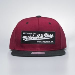 Cap Mitchell & Ness snapback Own Brand burgundy / black 2 Tone Label