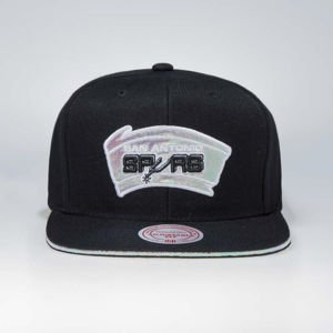 Cap Mitchell & Ness snapback San Antonio Spurs black Dark Hologram II