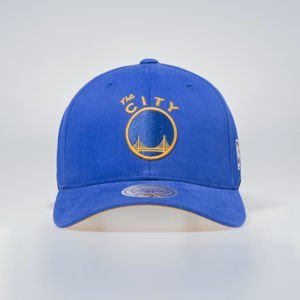 Cap Mitchell & Ness snapback San Francisco Warriors blue Flexfit 110 Low Pro