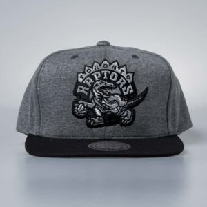 Cap Mitchell & Ness snapback Toronto Raptors grey / black Fleece Clear Logo