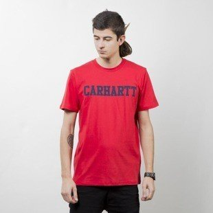 Carhartt WIP College T-Shirt chili / navy