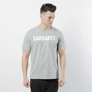 Carhartt WIP College T-Shirt grey heather / white