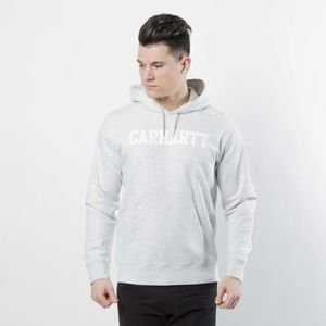 Carhartt WIP Hooded College Sweat ash heather / white I024669