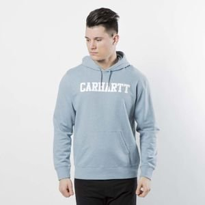 Carhartt WIP Hooded College Sweat dusty blue heather / white I024669