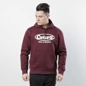 Carhartt WIP Hooded Oval Sweat dark chianti / white I024696-10