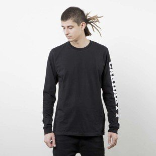 Carhartt WIP L/S College Left Longsleeve black heather
