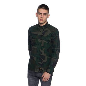 Carhartt WIP L/S Mision Shirt camo combat green rinsed