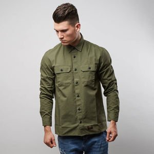 Carhartt WIP L/S Mision Shirt rover green rinsed
