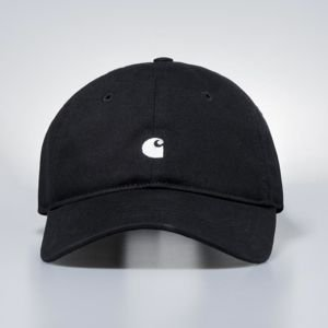 Carhartt WIP Strapback Madison Logo Cap - black / white