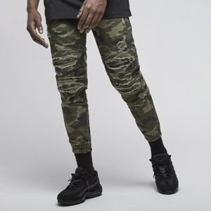 Cayler & Sons All Day Denim Paneled Inverted Biker Jogger Pants woodland camo