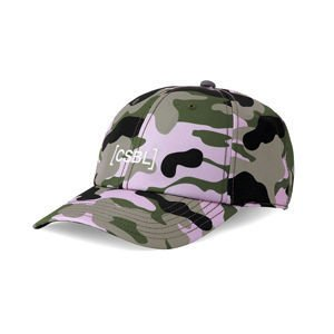 Cayler & Sons BLACK LABEL Brackets Curved Cap woodrose camo / white