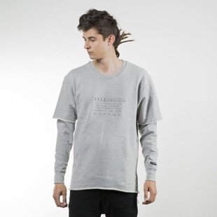 Cayler & Sons BLACK LABEL sweatshirt Box Cut Off Layer Crewneck grey heather / grey BL-CAY-SU16-AP-03-01