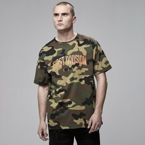Cayler & Sons Black Label Patched Oversized Tee woodland camo / orange
