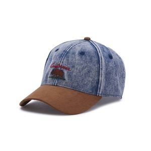 Cayler & Sons cap White Label Cali Vibe Curved Cap denim / cognac
