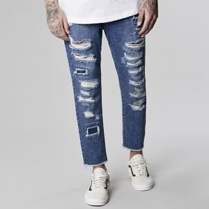 Cayler & Sons pants All Day Denim Raw Edge Denim Pants mid blue