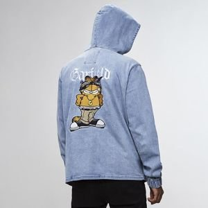 Cayler & Sons sweatshirt All Day Denim Left Side Garfield Half Zip Hoody light blue