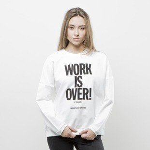 Crewneck Carhartt WIP W' Ellery Work Is Over Sweat white / black WMNS