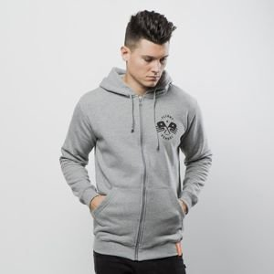 Diamante Wear sweatshirt Never Fly Zip Hoodie grey