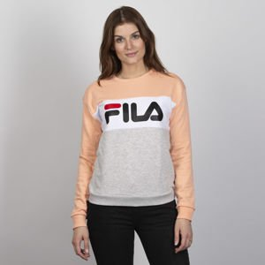 Fila WMNS Leah Crew Sweat Women light grey-melange bros-salmon-bright white