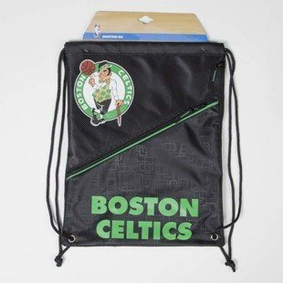 Forever Collectibles drawstring bag Boston Celtics Diagonal Zip black / black