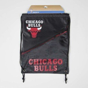 Forever Collectibles drawstring bag Chicago Bulls Diagonal Zip black / black