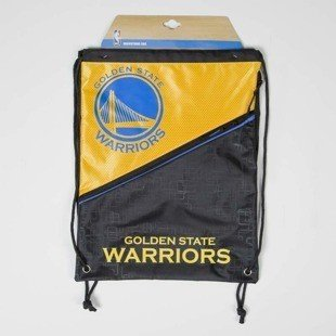 Forever Collectibles drawstring bag Golden State Warriors Diagonal Zip black / yellow