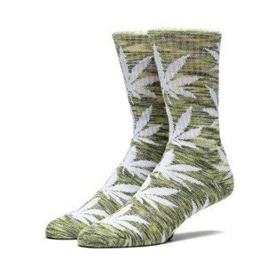 HUF Streaky Plantlife Crew Sock green / grey / white SK64039