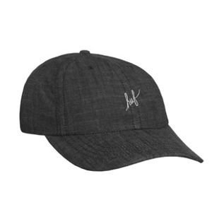 HUF strapback Script Chambray Curved 6 Panel grey