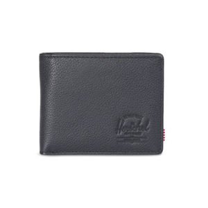 Herschel Hank + Leather Wallet black 10368-00004