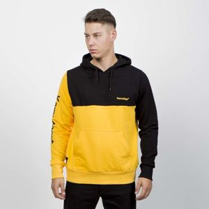Kamuflage Sweatshirt Hoodie Split black/yellow