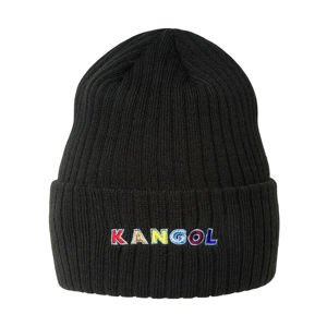 Kangol Color Text Beanie black
