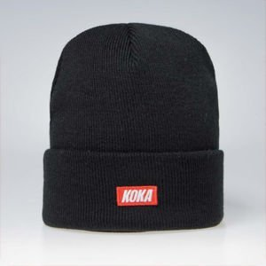 Koka Beanie Small Box Logo black