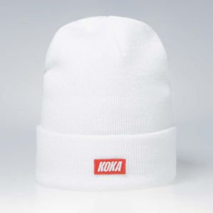 Koka Beanie Small Box Logo white